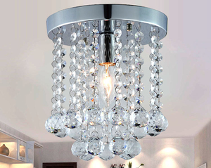 Image 3 - New Round LED Crystal Ceiling Light For Living Room Indoor Lamp luminaria home decoration