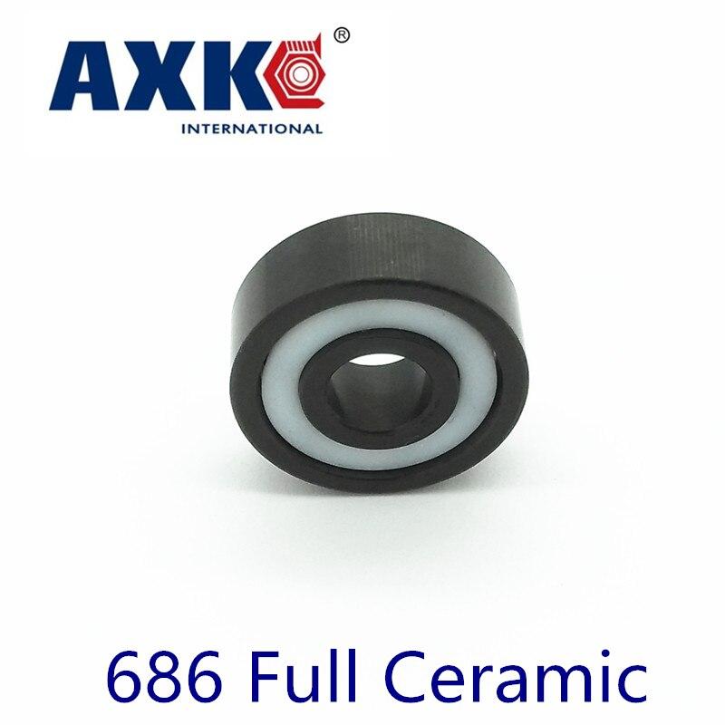 Rodamientos 2018 Axk 686 полный Керамическая подшипника ( 1 шт ) 6*13*3.5 мм Материал 686ce все гонки si3n4 Нитрида кремния 618/6 шарикоподшипники
