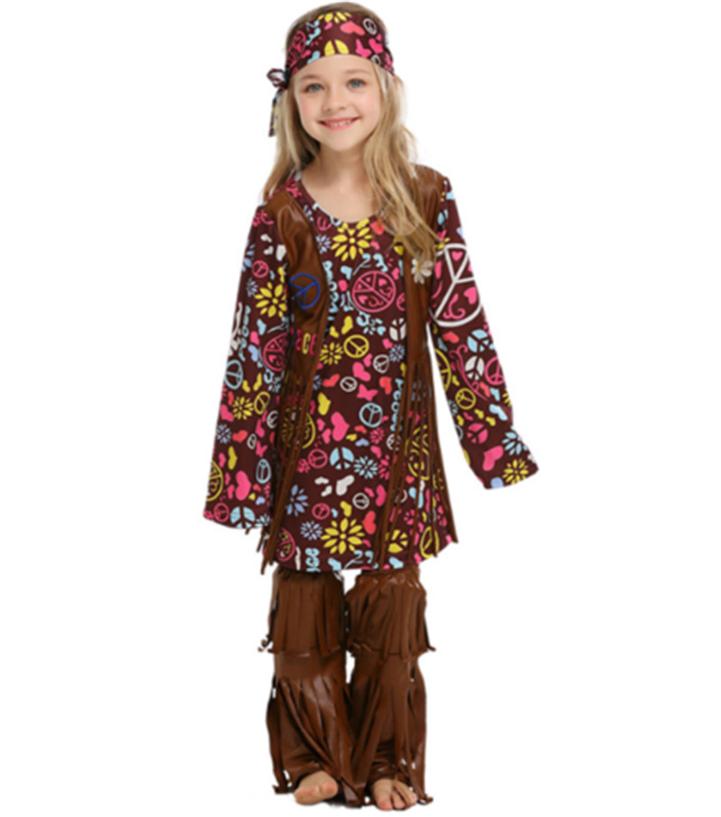 Halloween Costume Children's Rave Party Halloween Hip-hop Parent-child Cosplay Savage Aborigine
