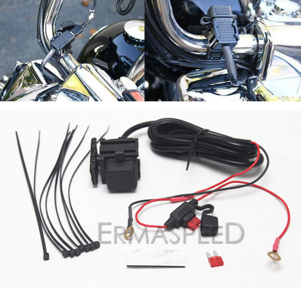motorcycle dual usb charger 5v 3 1a waterproof charging port with rh aliexpress com Homemade Solar USB Charger Schematic USB Power Wires