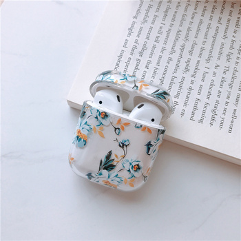Watercolor floral hard cover for Apple Airpods case protective cover Bluetooth Wireless Earphone Case Charging Box case for apple airpods case protective cover bluetooth wireless earphone case charging box transparent glossy hard case lovely