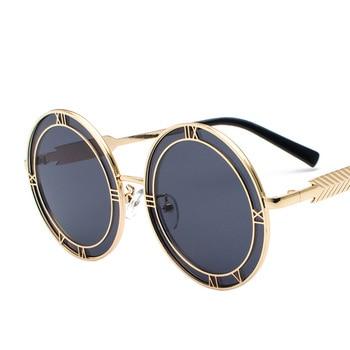 1485e40cd3 Gafas de sol redondas de gran tamaño de verano a la moda para mujer Gafas  de diseñador de marca Vintage para hombres Gafas de sol Retro Gafas de sol