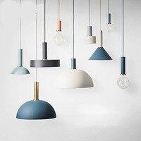 American Country Pendant Light Creative Wood Pendant Lamp Iron Metal Hanging Lamp Nordic Designer Light Art