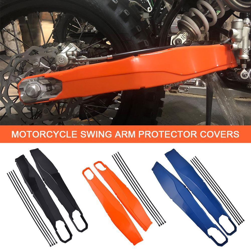 Color : Blue Yuanmei Basculante Protector Giro del Brazo Protector de la Cubierta en Forma for KTM EXC EXCF XCW TPI Seis D/ías 150 200 250 300 350 500 450 XCW EXCF Motocicleta