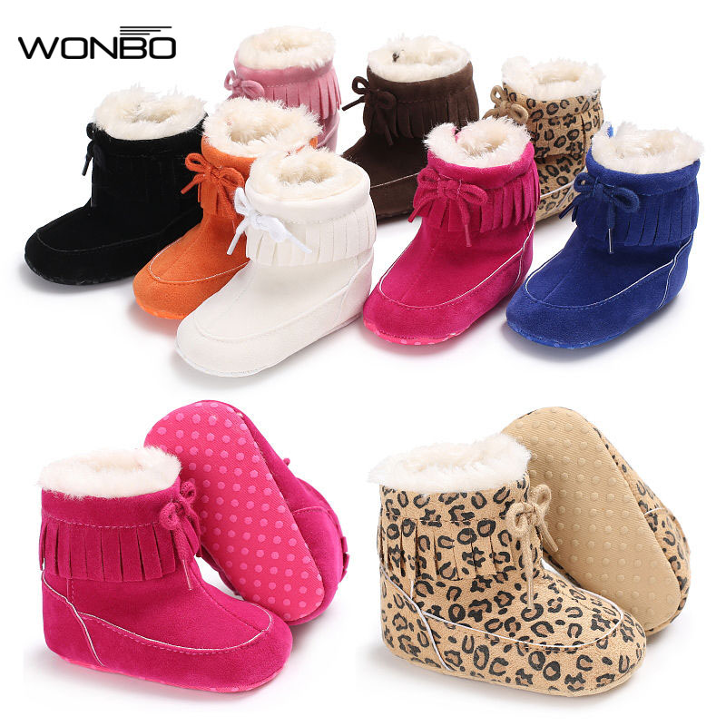 Winter Super Warm Newborn Baby Boys Girls First Walkers Shoes Infant Toddler Soft Bottom Anti-slip Baby Boots Fur Booties цена 2017