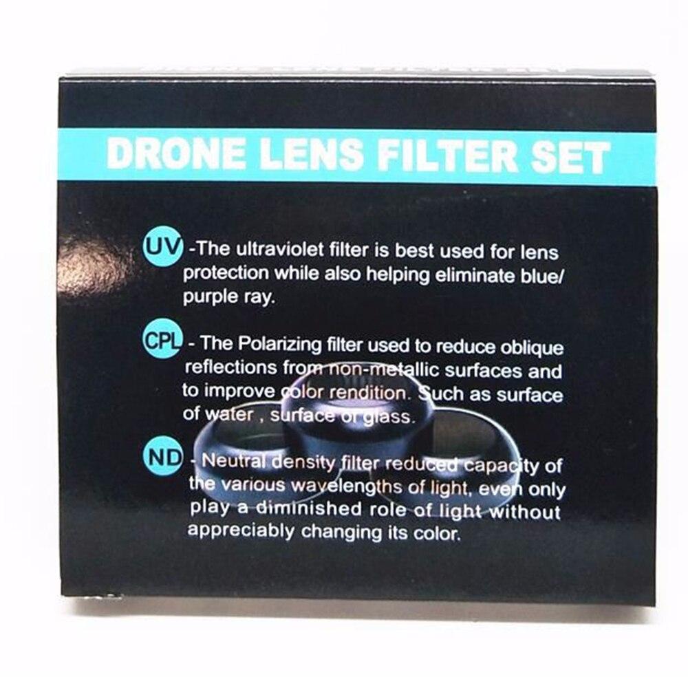 6 шт. УФ CPL ND4 ND8 ND16 ND32 набор фильтров Многофункциональный фильтр для DJI Mavic Pro Дрон Квадрокоптер - 4