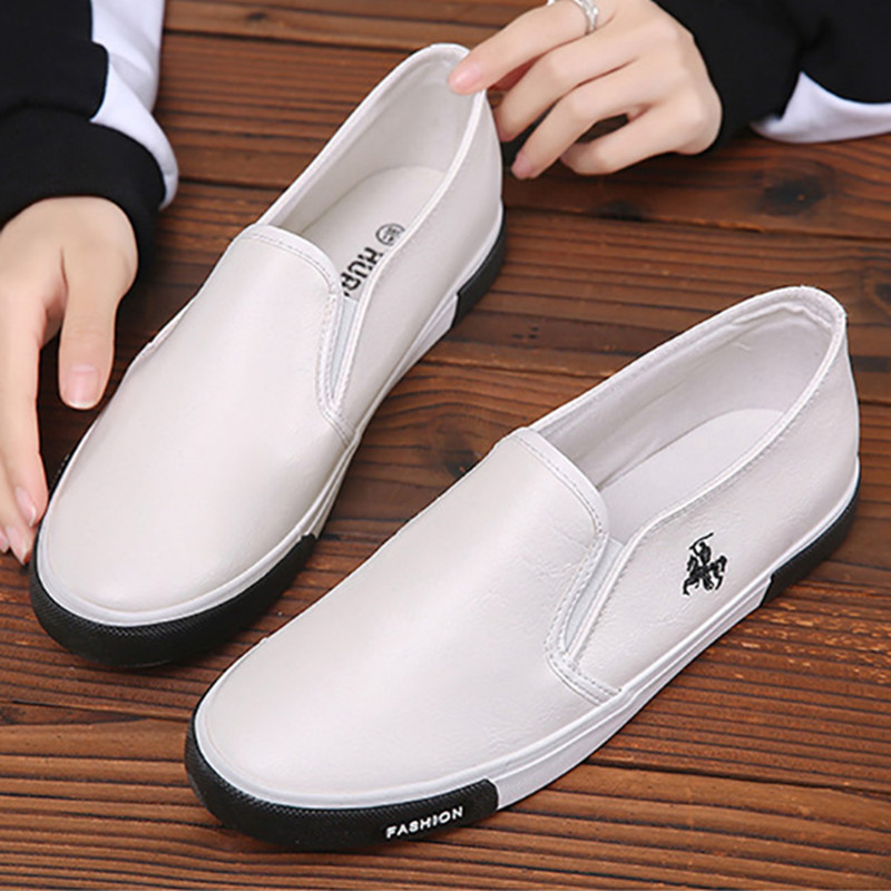 Fashion Men Casual Shoes Leather Flat Loafers For Male Low T