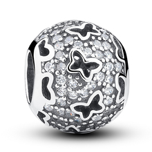 925 Sterling Silver Clear Charm Beads