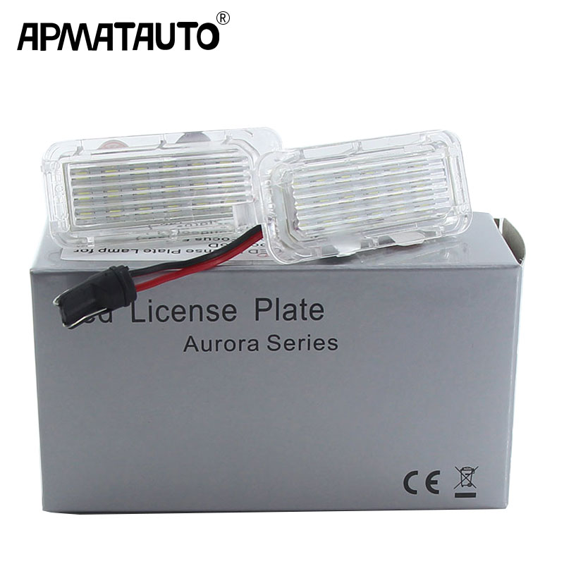 2xCanbus <font><b>LED</b></font> License Plate Light white 18LED Lamps For <font><b>Focus</b></font> Fiesta Mondeo MK4 Kuga Galaxy S-max C max Mk2 DA3 <font><b>MK3</b></font> MK5 MK6 image