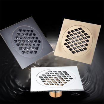 LIUYUE odpływ podłogowy czarny 15 × 15 cm Super większy odpływ podłogowy łazienka materiał budowlany filtracja dezodoryzacja odpływy sprzęt tanie i dobre opinie Typ dezodoryzacji Mosiądz 5 5 cal Piętro Wspólna wpustu Galwaniczne Kanalizacji Plac LY3009 black antique silver shower floor drain
