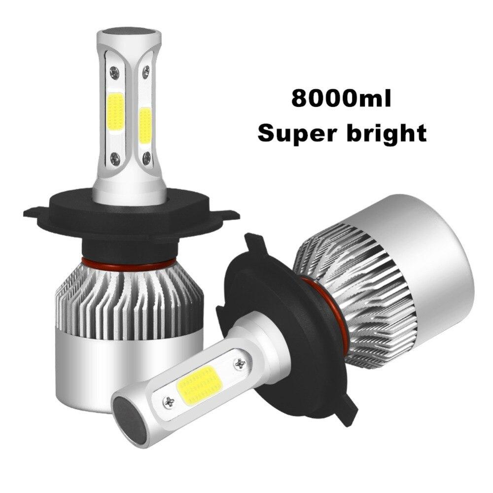 Car led Headlight H7 H4 H1 H11 LED 9005 9006 9004 9007 880 HB3 H3 8000LM 6000K Auto LED Headlamp DC12V Spot car led light bulbs