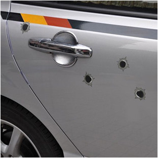 32 Small Shot Holes Car Posted Bullet Holes Style Dangerous Illusions Stickers