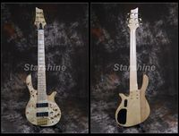 Starshine 6 Strings Electric Bass Guitar YL BS10 Burl Top ASH Body Maple Fingerboard Gold Hardware