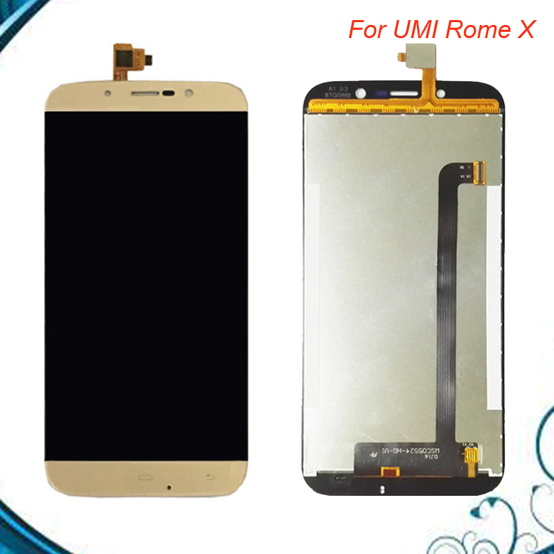 High Quality For UMI Rome X LCD Display With Touch Screen Digitizer Assembly Black and Gold Replacement Part IN STOCK