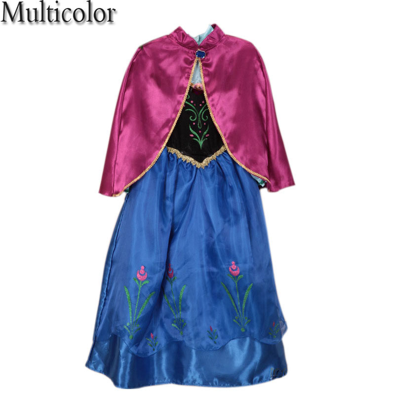 Costumes Summer Children Princess Dress Fever Elsa Costume Girls Dress Kids Girl's Vestidos Party Cosplay Clothing Anna Dresses hot 2017 summer girl fashion elsa anna dress children clothing girls princess elsa anna party dresses baby kids clothes vestidos