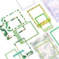 1 paket/los Frische Foto Rahmen Serie Aufkleber Pack Aufkleber DIY Scrapbooking Aufkleber pad Kinder Brief Tagebuch aufkleber