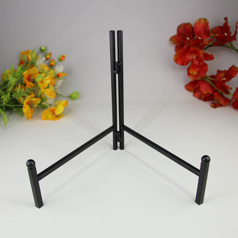 Black Wrought Iron Metal Craft Plate Display Support Easel Holder x 5-in Storage Holders u0026 Racks from Home u0026 Garden on Aliexpress.com | Alibaba Group & Black Wrought Iron Metal Craft Plate Display Support Easel Holder x ...