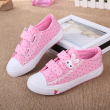 2016 Girls Skateboarding Shoes Nonslip Kids Sneakers Children Sport Shoes Canvas Shoe Infant Style outdoor shoe,Blue/Pink,S/M/L