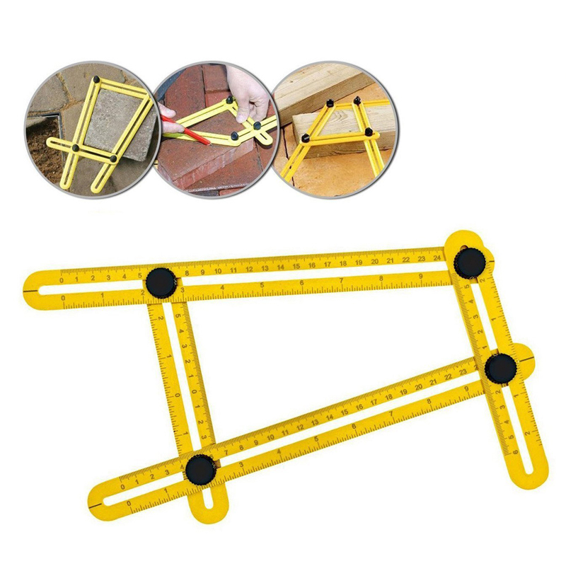 M-quality Angle Template Tools Multi Angle Measuring Ruler Angleizer Ruler Ultimate Angle Finder for all Angles&Shapes