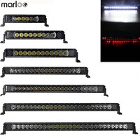 Marloo 10W Single Radiance LED Light Bar 16.5 21 26 31 35 40 45 50 54Inch Red DRL White Light 12V For Jeep Ford Car 4x4