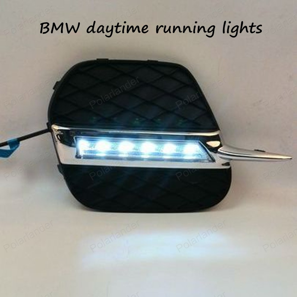 ФОТО Free Shipping High Quality Car Special LED DRL For BMW X5 11-13 Daytime Running Light ,Driving/ Fog Lamp