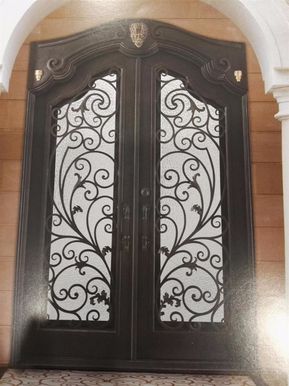 front door unlimited with wrought prehung bronze glass francese doors x oil classic rubbed painted vita lite in p iron
