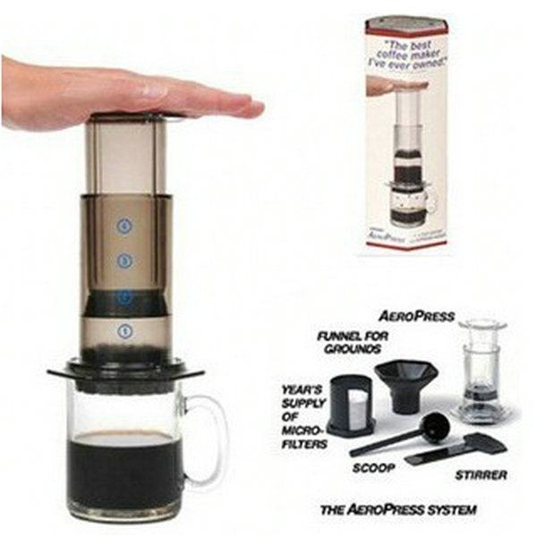 Portable Coffee Maker French Aero Press Pot Air Espresso Machine Reusable Filter With