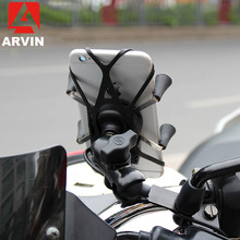 ARVIN Motorcycle Rearview Mobile Phone Holder For iPhone X XR Sansung S9 Universal Rotating USB Charging Stand GPS Bracket Mount