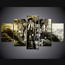 5 Panels Wall Art Death Note Anime Modern Paintings Art Canvas Paintings Poster Unframed 05