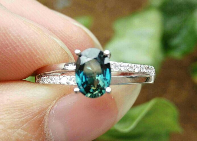 Natural blue sapphire gem Ring Natural gemstone Ring S925 sterling silver trendy Luxury two arm women party gift Jewelry
