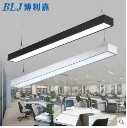 L LED strip light office chandelier modern fluorescent lamp long strip aluminum lamp right angle lighting hanging line light ledL LED strip light office chandelier modern fluorescent lamp long strip aluminum lamp right angle lighting hanging line light led