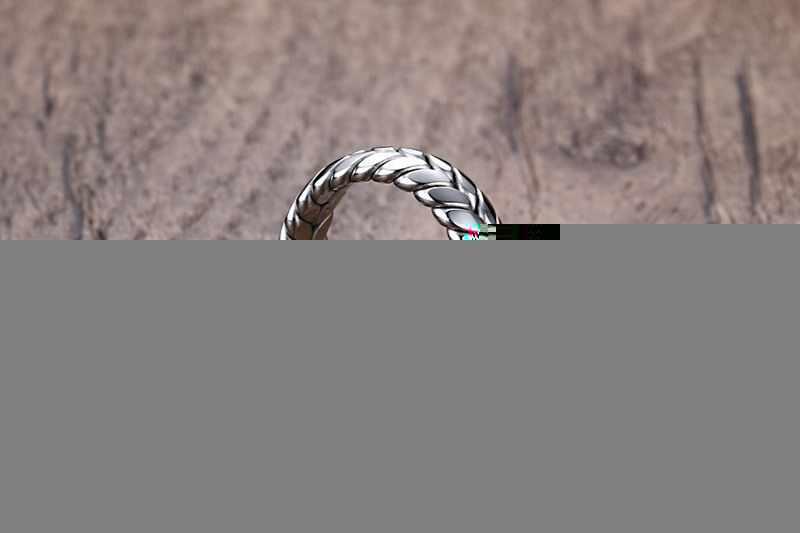 Мужские кольца из нержавеющей стали серебряные пшеничные уши Клевер амулет простые для мужчин и девочек ювелирные изделия для мальчиков креативный подарок оптом