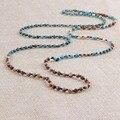 Vintage Collares de Cuentas de Jaspe Natural y Turquesa y Madre Perla Pulsera de Cadena Larga Hombres Mujeres Cadena Del Babero Del Ahogador