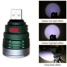 Eletorot Ultra Bright Flashlight mini zoomable 3 modes USB F