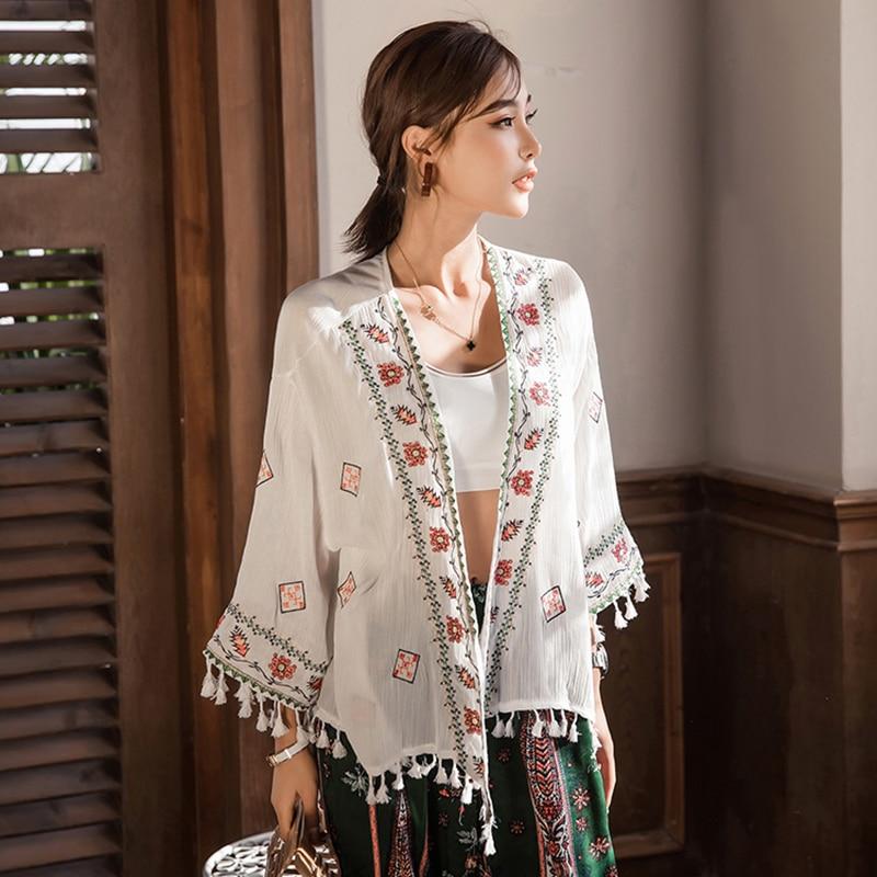 Summer tops for women 2018 beach fashion hippie boho blouse shirt chic  bohemian clothing tunics female ladies tops FF1304 L Blouses & Shirts  -  AliExpress