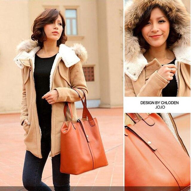 2015 Women's New Arrive Fashion Vintage Genuine Leather Bag Solid Handbag/Women Messenger Bag/ Large Motorcycle Shoulder Bag