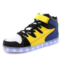 Sport Light Shoes Trend Led Light Usb Charging Men Women Couples Personality Light Plate Shoes Foreign