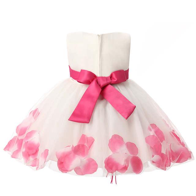 d6a92401be60 Online Shop Petals Flower Girl Wedding Dress Toddler Baby Child ...