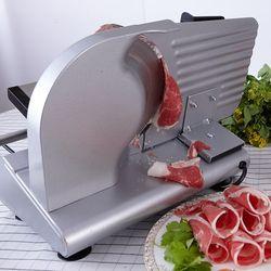 200W elektryczna maszyna do krojenia mięsa krajalnica gospodarstwa domowego mrożone baranina rolki wołowiny krajalnica chleb szynka w Maszynki do mielenia mięsa od AGD na