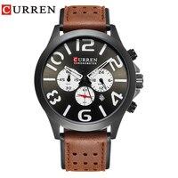 CURREN 8244New Black Face Digital Brand Luxury Fashion Casual Sports Chronograph Quartz Men Watches Wristwatches For