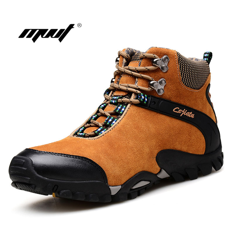 Men s Boots Brand Men Winter shoes Snow Boots With Fur Men Outdoor Work Shoes Top