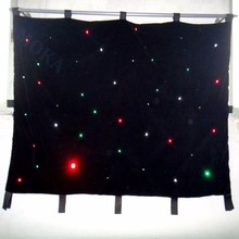2m*3m RGBW LED Star Curtain Wedding Stage Backdrop Cloth Stage Background DMX 512 Controller For Wedding Decoration