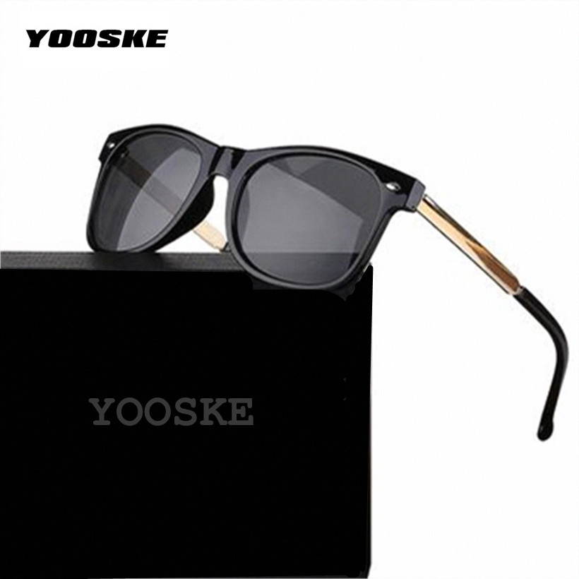 YOOSKE Vintage Men's Women's Sunglasses Male Female Sun Glasses Fashion Feminine Masculine Goggle