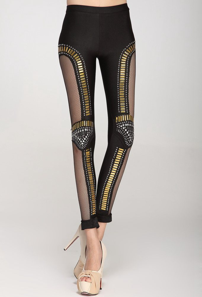 Popular Gold Capri Leggings-Buy Cheap Gold Capri Leggings lots ...