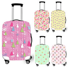 Wind Chimes/Panda Rabit Cherry Travel Suitcase Covers Men Airplane Elastic Luggage Protective Covers bagages roulettes Covers(China)
