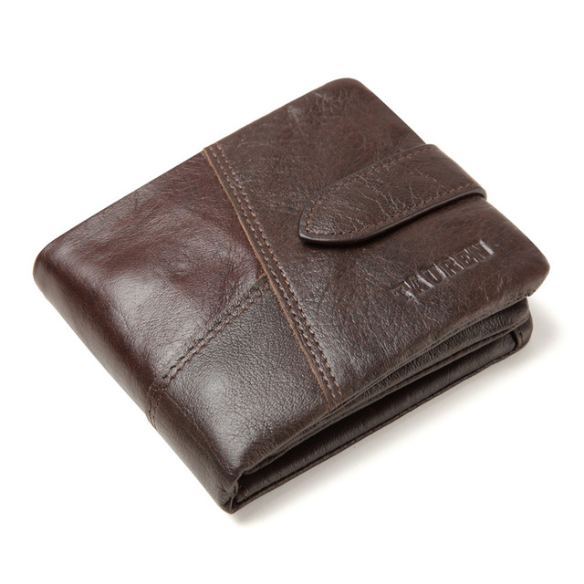 Genuine Leather Men's Wallet with Coin Pocket
