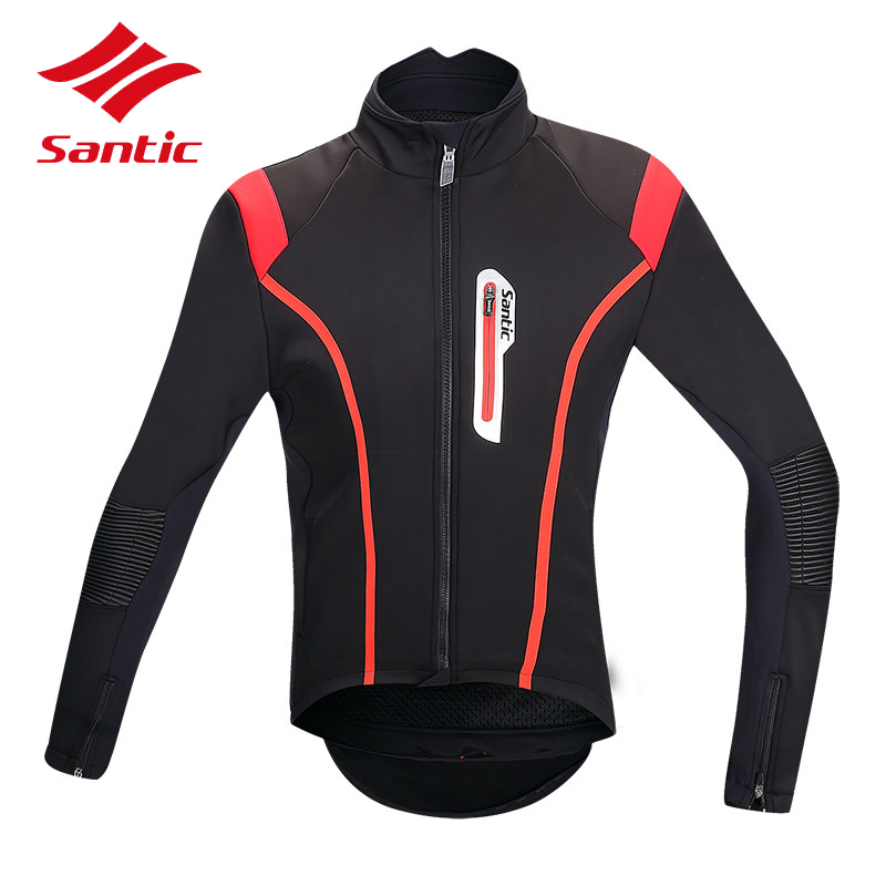 Santic Winter Cycling Jacket Men Thermal Windproof Warm Up Road Bicycle Bike Jersey Cycling Clothing Camisa Ropa Ciclismo цена