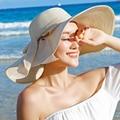 Новая Мода Лето Большой Брим Соломенная Шляпа женская Девушки Шляпа Солнца УФ-Защита Большой Лук Пляж Hat Повседневная Головные Уборы Вводная Часть Женщин 3105