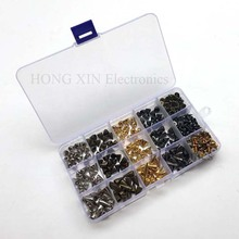 180pcs/set Punk rivet Spike rivets Cone Spikes Screwback Studs Craft Cool Rivets (Silvery, Gun Black, Bronze,Golden)