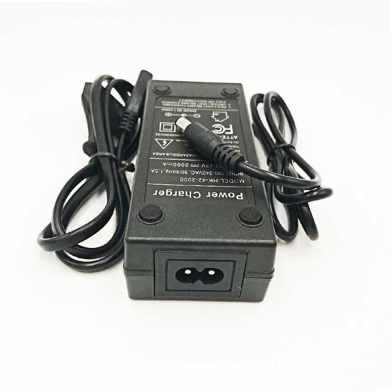 36 В/42 в зарядное устройство литиевое зарядное устройство 42V2A Вход 100-240 В AC литий-полимерное зарядное устройство для 10 серий 36 В Электрический велосипед